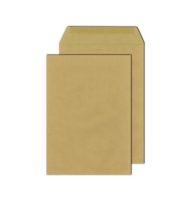 Versandtaschen E4 ohne Fenster nassklebend 130g braun 100 Stück