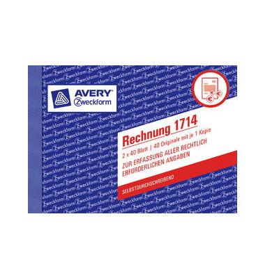 Rechnungsbuch 1714 A6 2x40 Bl