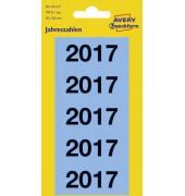 Jahreszahlen 2017, 60x26 mm, blau, 100 Etiketten, permanent
