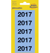 Jahreszahlen 2017 blau 60x26mm selbstklebend 100 Stück