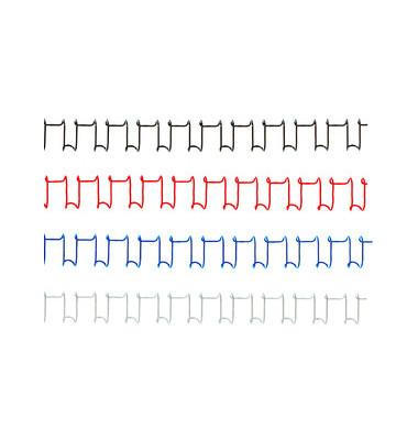 Drahtbinderücken WireBind21 Multifunctional IB160837 silber US-Teilung 21 Ringe auf A4 85 Blatt 10mm 100 Stück