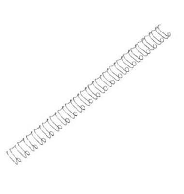 Drahtbinderücken A4 silber 12mm US-Teilung 100 Stück
