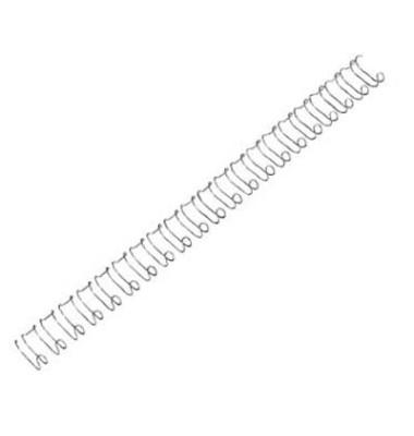 Drahtbinderücken WireBind21 Multifunctional IB161230 silber US-Teilung 21 Ringe auf A4 100 Blatt 12mm 100 Stück