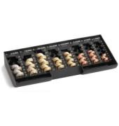 Kasseneinsatz mit 8 Münzbeh. schwarz 31,5x15x4,5 Kunstst.