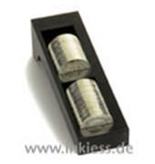 Einzelmünzbehälter Aurikord schwarz 2 Rol 50Münz 10 Euro