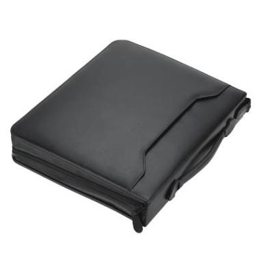Konferenzmappe AREZZO A4 schwarz 30x36x6cm Kunstleder