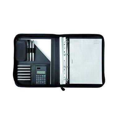 Konferenzmappe RICCIONE A4 schwarz 35,7x28,5cm Lederim.