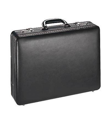 Aktenkoffer Taormina schwarz Leder