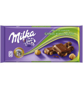 Schokolade ganze Haselnuss Tafel 100g