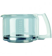Ersatzglaskanne F034 weiß für 10 Tassen ohne Deckel