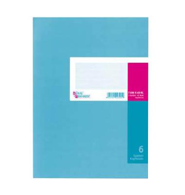 Spaltenbuch 6 Spalten mit Kopfleiste A4 40 Blatt Karton