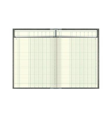 Spaltenbuch 6 Spalten Deckenband mit Kopfleiste A4 144 Blatt