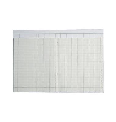 Spaltenbuch 86-11601 A4 40 Blatt mit Kopfleiste 10 Spalten über 2 Seiten