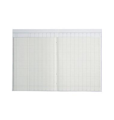 Spaltenbuch 86-11661 A4 40 Blatt mit Kopfleiste 16 Spalten über 2 Seiten