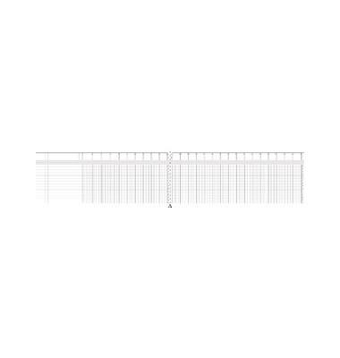 Spaltenbuch 86-11762 34,8x29,7cm 96 Blatt mit Kopfleiste 26 Spalten über 2 Seiten