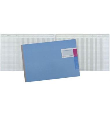 Geschäftsbuch 17 Doppelkonten 49x29,7 cm 48 Blatt