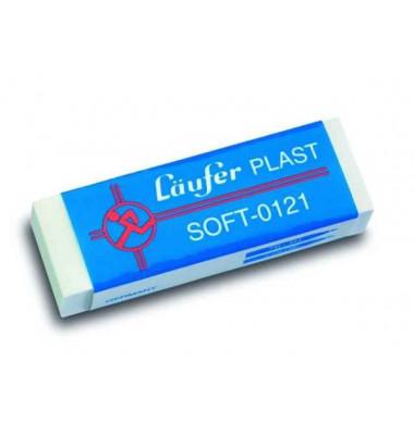 Radierer Plast Soft weiß 65x21x12mm