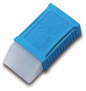 Radierer Plast L-125 transp. 48x24x11mm Kunstst.