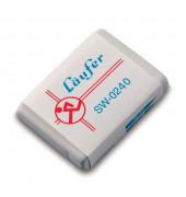 Radierer f. Blei-/Farbstifte weiß 40x28x7,5mm Kautsch.