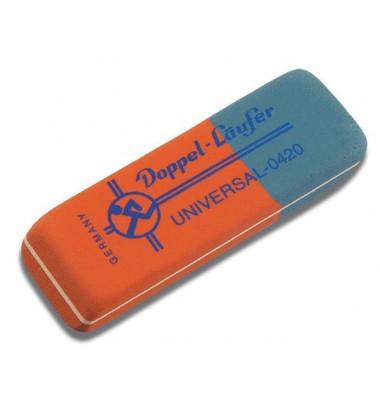 Radierer f. Bleistift/Farbstift/Tinte blau/rot 75x24x10mm Univers.