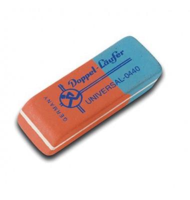 Radierer f. Bleistift/Farbstift/Tinte rot/blau 55x19x8,5mm Kautsch.