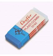 Radierer f. Bleistift/Farbstift/Tinte blau/we 55x19x8,5mm Kunst.