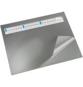 Schreibunterlage mit Sichtfolie grau 52 x 65cm Kunststoff