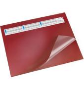 Schreibunterlage mit Sichtfolie rot 52 x 65cm Kunststoff