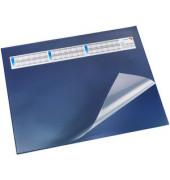 Schreibunterlage mit Sichtfolie blau 52 x 65cm Kunststoff