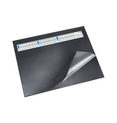 Schreibunterlage mit Sichtfolie schwarz 52 x 65cm Kunststoff