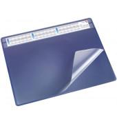 Schreibunterlage Durella Soft 47605 mit Kalenderstreifen blau 65x50cm Kunststoff
