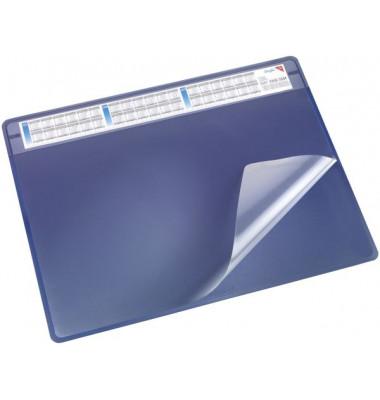 Schreibunterlage Durella mit Sichtfolie blau 50 x 65cm Kunststoff