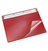 Schreibunterlage Durella Soft 47654 mit Kalenderstreifen rot 65x50cm Kunststoff
