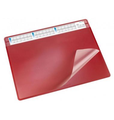 Schreibunterlage Durella mit Sichtfolie rot 50 x 65cm Kunststoff
