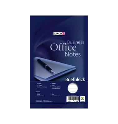 Schreibblock A5 Office liniert 70g weiß 50 Blatt