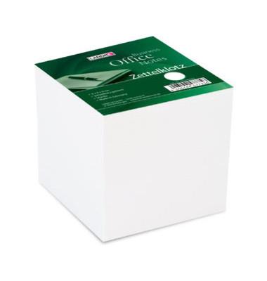 Notizklotz geleimt weiß 9x9cm 800 Bl