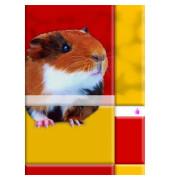 Schulheft Tiermotiv A5 Lineatur 4 liniert weiß 16 Blatt