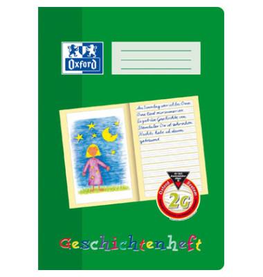 Geschichtenheft A4 Lineatur 2G grün 16 Blatt
