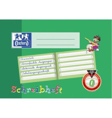 Schreiblernheft A5 quer Lineatur 0 liniert mit Schreiblernhaus weiß 16 Blatt