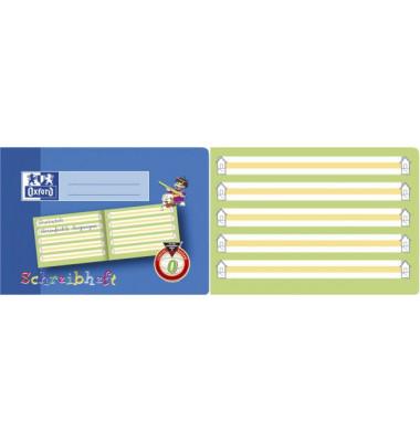 Schreiblernheft A5 quer Lineatur 0 liniert mit gelbem Mittelband & Schreiblernhaus 16 Blatt