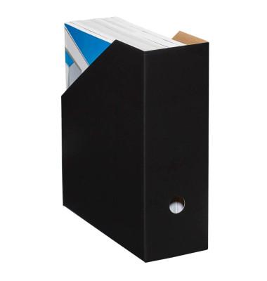 Stehsammler Color 105 x 260 x 310mm A4 extra breit Hartpappe schwarz