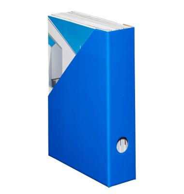 Stehsammler Color 70 x 225 x 300mm A4 schmal Hartpappe blau