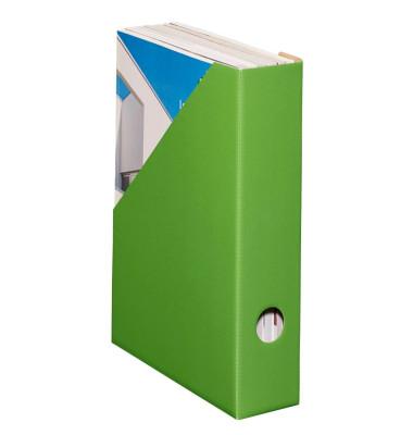 Stehsammler Color 70 x 225 x 300mm A4 schmal Hartpappe grün