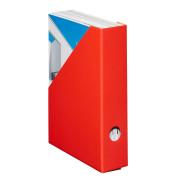 Stehsammler Color 70 x 225 x 300mm A4 schmal Hartpappe rot