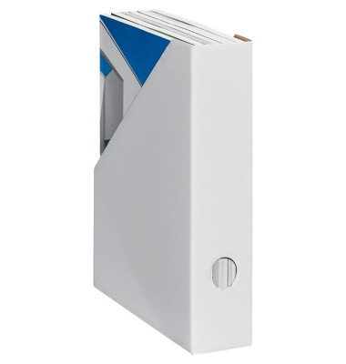 Stehsammler Color 70 x 225 x 300mm A4 schmal Hartpappe weiß