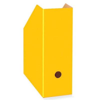 Stehsammler COLOR 105 x 260 x 310mm Pappe A4 gelb