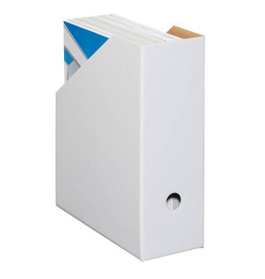 Stehsammler Color 105 x 260 x 310mm A4 extra breit Hartpappe weiß