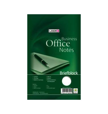 Briefblock Office A5 blanko weiß 50 Blatt