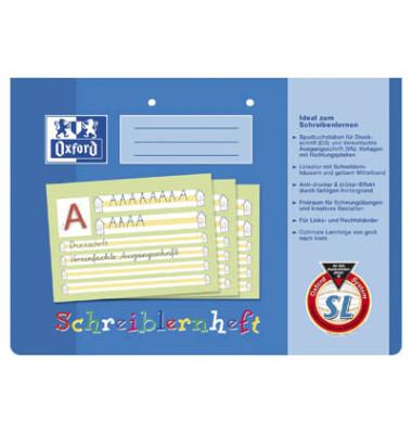 Schreiblernheft A4 quer Lineatur SL liniert mit Schreiblernhaus weiß 16 Blatt