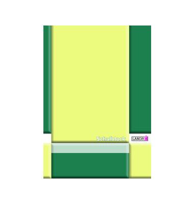 Schreibblock A4 70g liniert weiß Lineatur 27 mit Rand links + rechts 4fach gelocht 50 Blatt